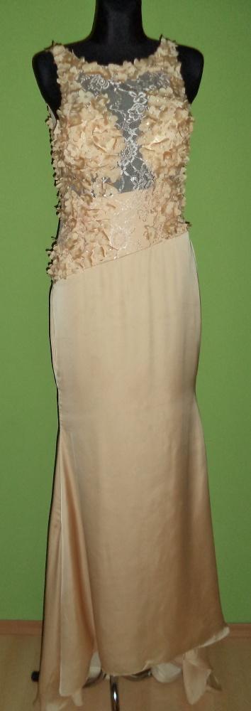 Suknia wieczorowa długa gołe plecy