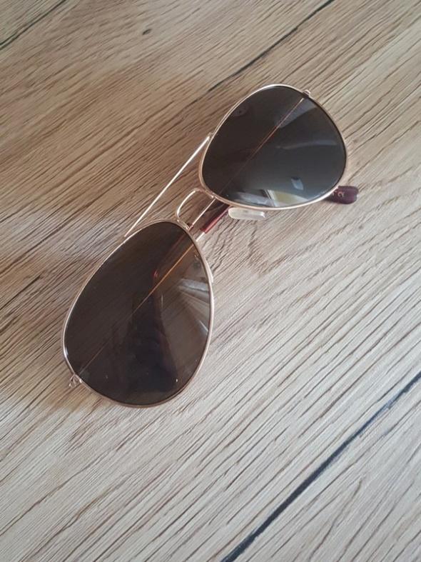 Okulary awiatorki złota oprawk