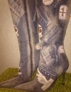Oryginalne buty kozaki firmy El Dantes...