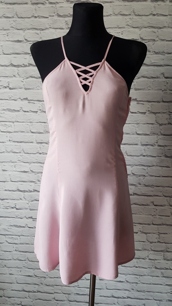 Różowa sukienka H&M 32...