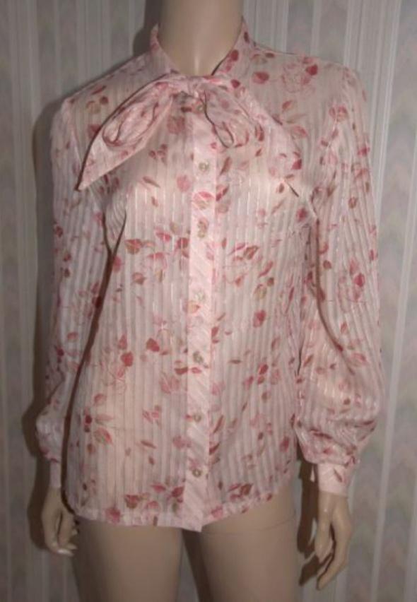 Koszula bufki kwiaty oversize retro mgiełka