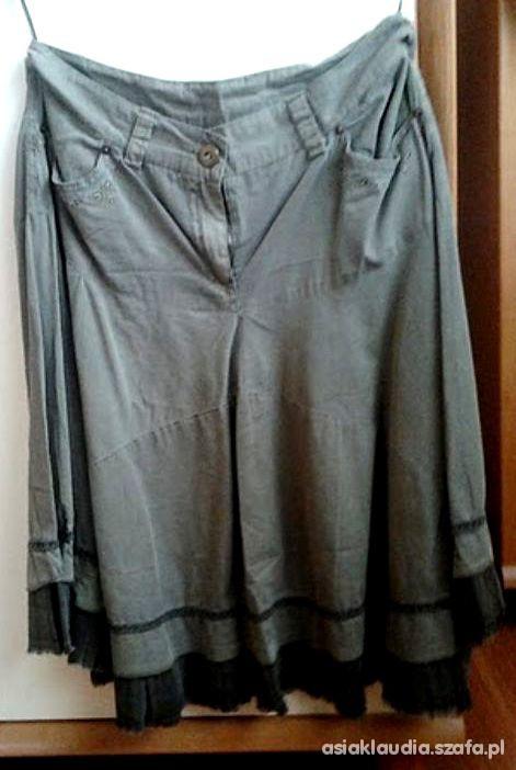 Spódnice Zielona spódnica midi