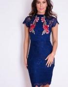 Sukienka Girl In Mind Layla Floral Aplique Lace Granatowy 38...