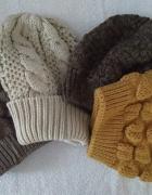 czapka zimowa beanie ciepła kolory...