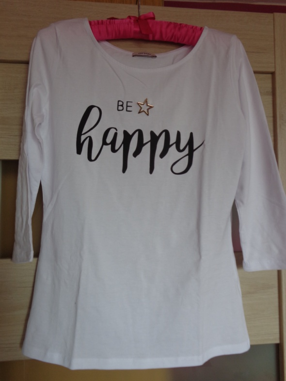 Biała bluzka z napisem