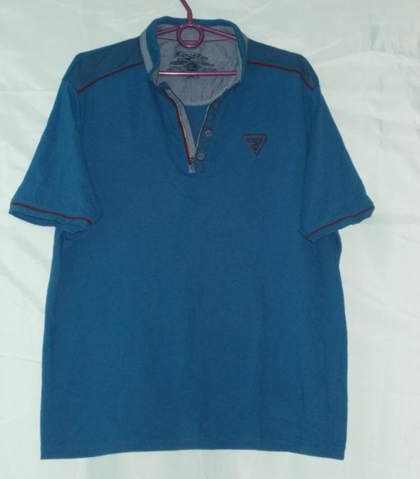 Bluzka bluzka z kołnierzykiem bluzka z krótkim rękawem 3XL 44 46