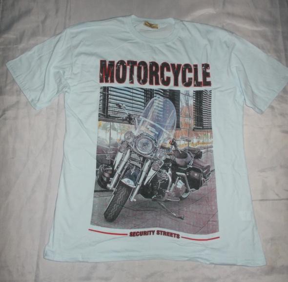 Bluzka Motorcycle bluzka z krótkim rękawem XXL 42 44