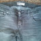 jeansowe szare spodnie
