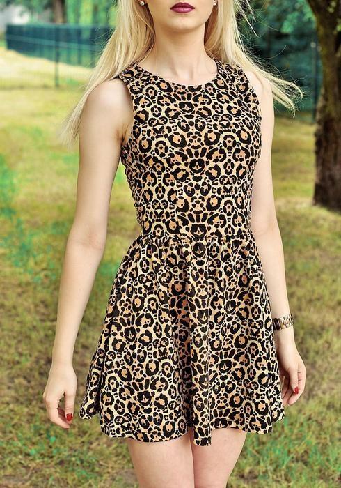 Suknie i sukienki Sukienka by H&M w panterke rozmiar SM
