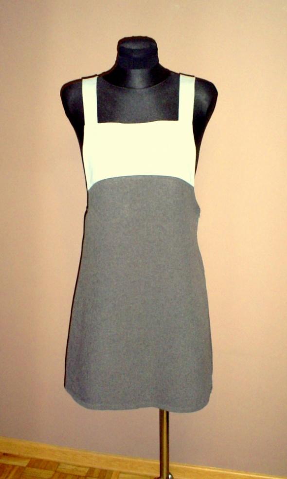 Sukienka szara łączona