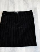 Czarna welurowa spódniczka w białe paski Tara...