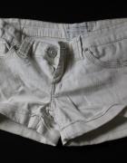 Białe szorty rozmiar 36