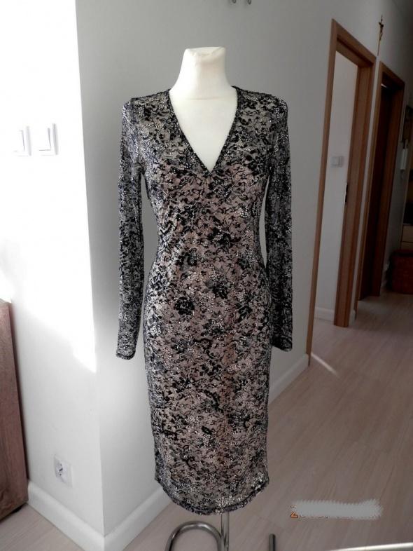 Sukienka Next Koronkowa Dopasowana Ołówkowa Imprezowa Wieczorowa Balowa L