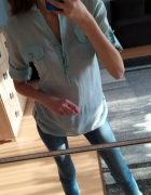 Miętowa bluzka xs...