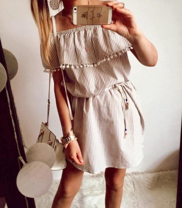 Sukienka Damska w paski hiszpanka M L