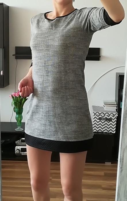 Czarno biała tunika M