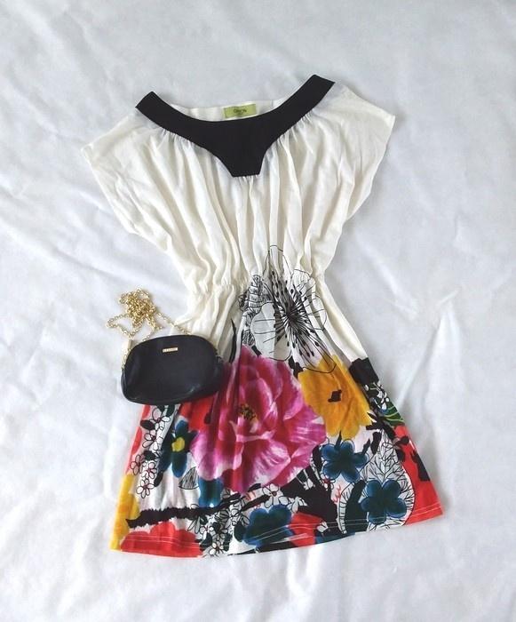 Orion London kremowa sukienka kwiaty M