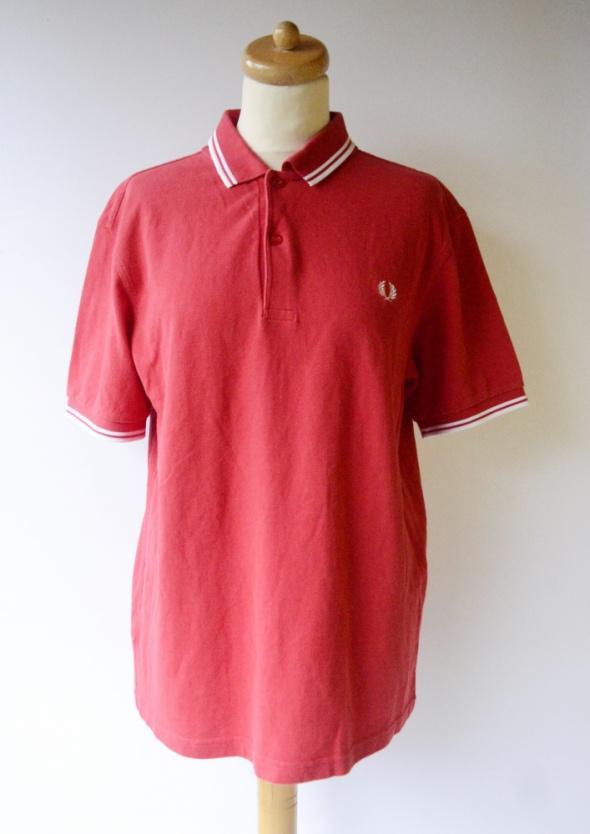 Koszula Polo Fred Perry Czerwona Męska L Bluzka Kołnierzyk