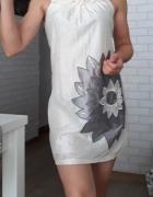 Ax Paris sukienka kremowa...