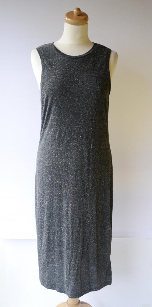 Sukienka Szara Melanż Long Długa L 40 Red Label