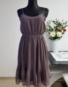 wrzosowa sukienka Top Secret...