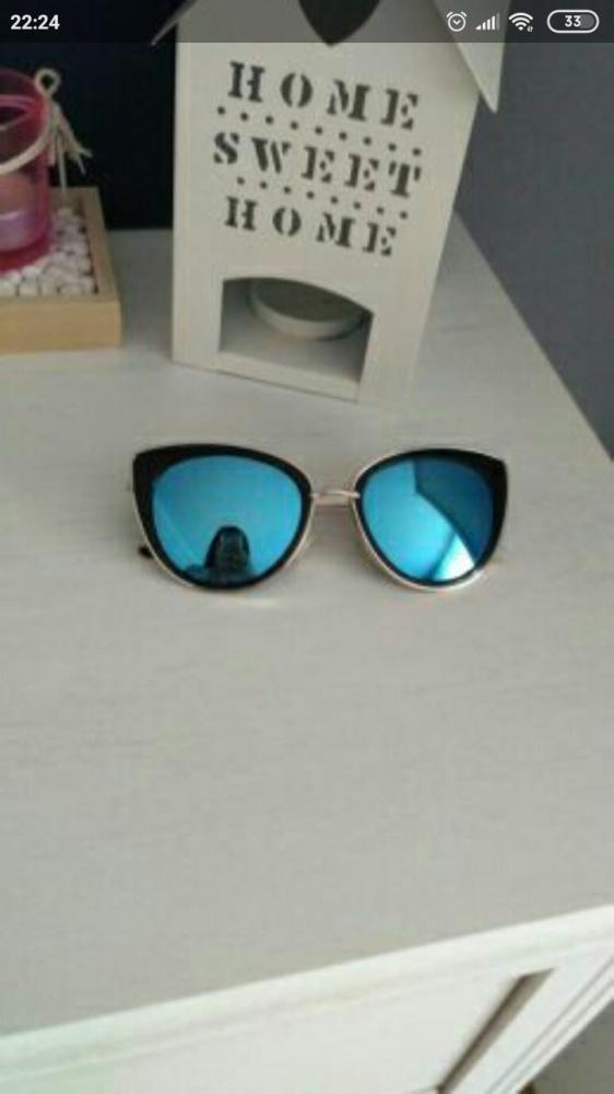 Okulary przeciwsłoneczne kocie oko lustrzanki