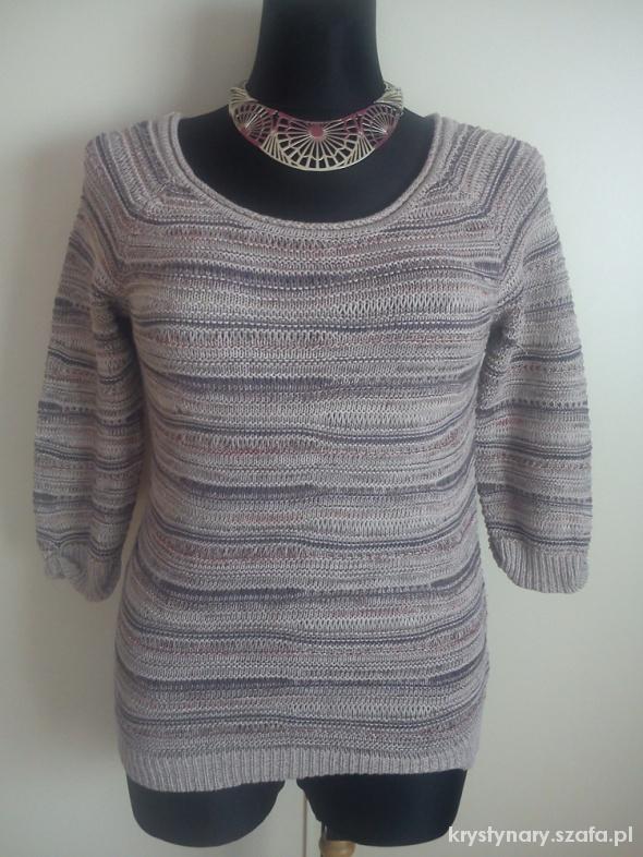 Sweterek brązowo beżowy
