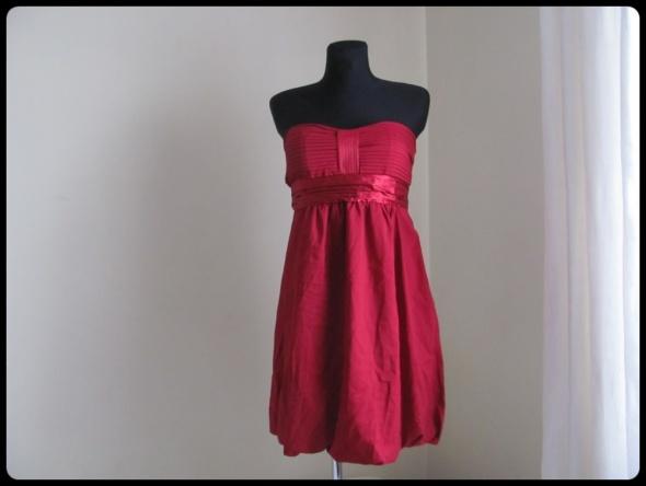 Reserved sukienka NOWA Z METKĄ gorsetowa czerwona 40 L bombka