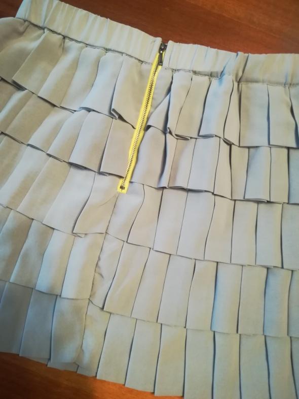 Spódnice Szara falbaniasta spódnica w rozmiarze XL