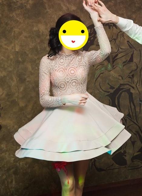 Suknie i sukienki Bezowa sukienka na wesele studniówkę sylwestra loola
