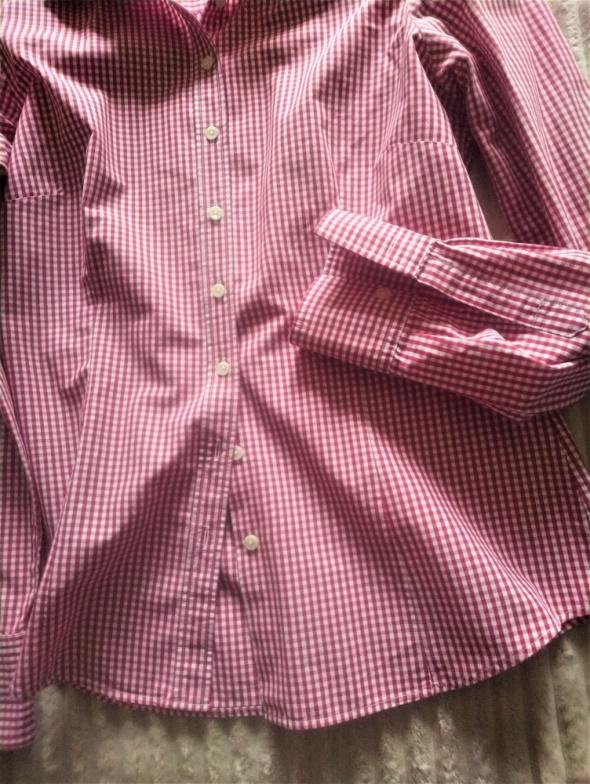 Koszula w biało czerwoną kratkę S bawełna