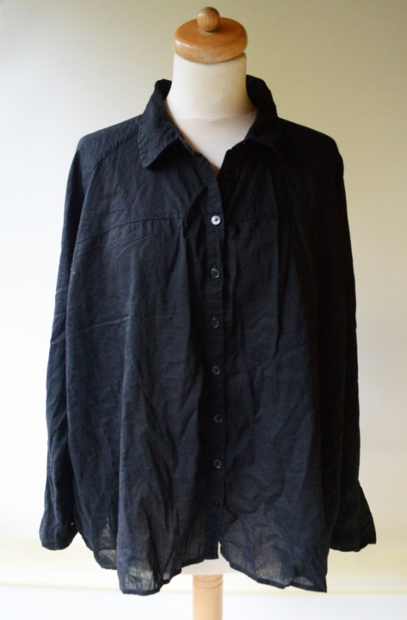 Koszule Koszula Czarna Vero Moda XL 42 Bawełna Elegancka Luzna