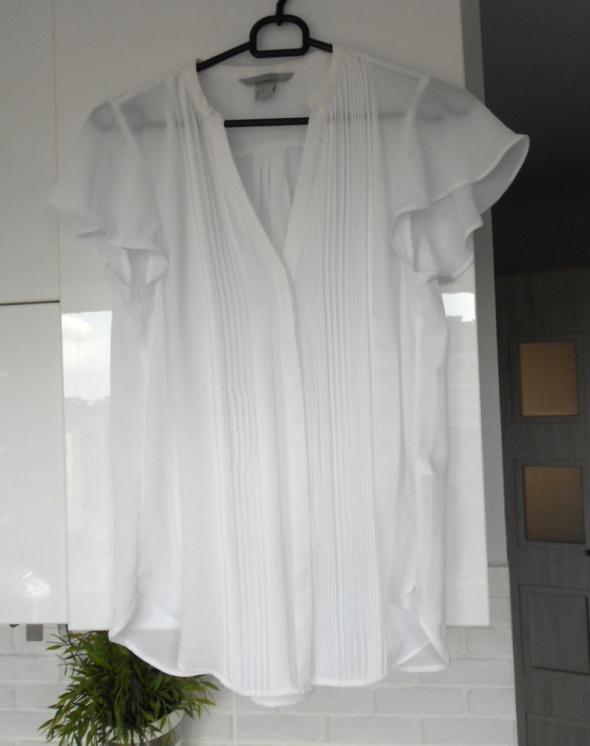 HM nowa bluzka biała elegancka klasyka minimalizm...