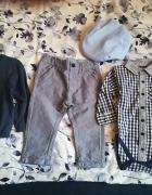 Zestaw koszulobody i spodnie cool Club roz 74 sweterek H&M nowy...