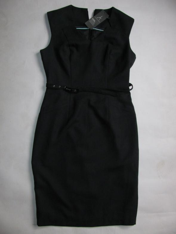 Suknie i sukienki ATMOSPHERE NOWA GRANATOWA SUKIENKA PRINCESKA 38 BIURO