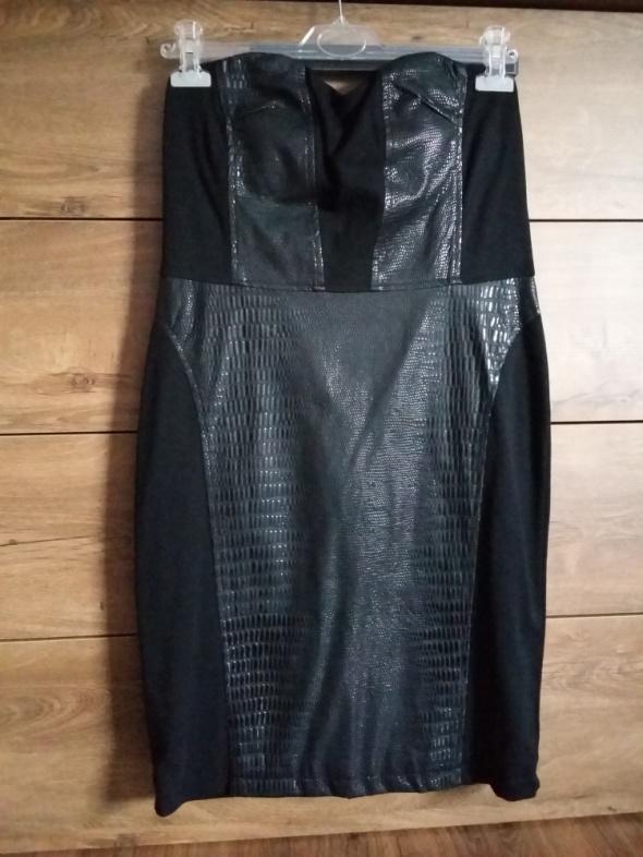 Suknie i sukienki Czarna weżowa skórka