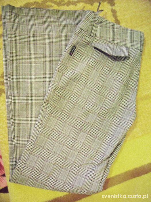 Spodnie Spodnie w kratę