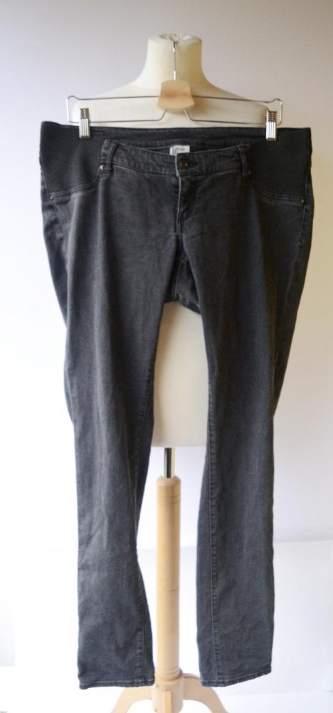 Spodnie H&M Mama Super Skinny XXL 44 Szare Rurki Ciąża