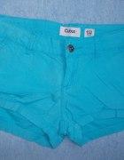 Błękitne szorty spodenki Cubus 34 xs stan idealny...