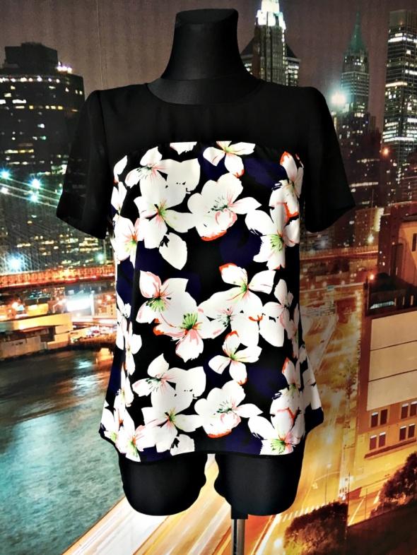 papaya bluzka kwiaty modna blogerska casual 38 M...