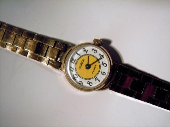 Zegarki Mały zegarek damski bransoletka Czajka pozłacany