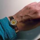 Mały zegarek damski bransoletka Czajka pozłacany