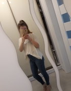 Luźna bluzka nude H&M...