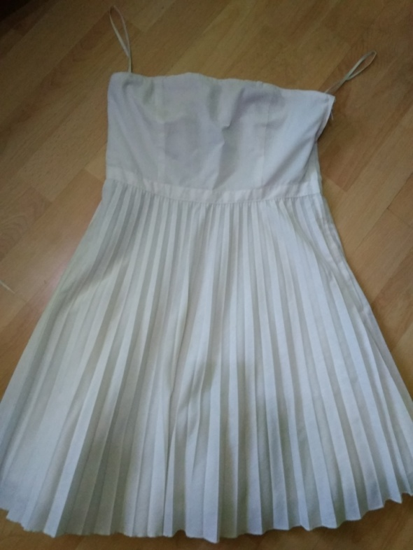 Sukienka na lato wesele biała h&m S...