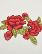duża aplikacja naszywka termo róże...