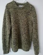 Oversizowy sweter gruby splot...