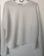 ZARA bluzka bluza biała kremowa długi rękaw rozm M 38 stan BDB...