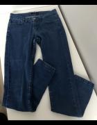 SINSAY spodnie jeansy granatowe rurki lekko zwężane rozm 36 S s...