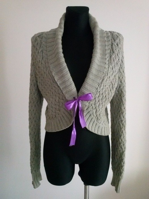 Swetry Szare bolerko sweter Cubus M L