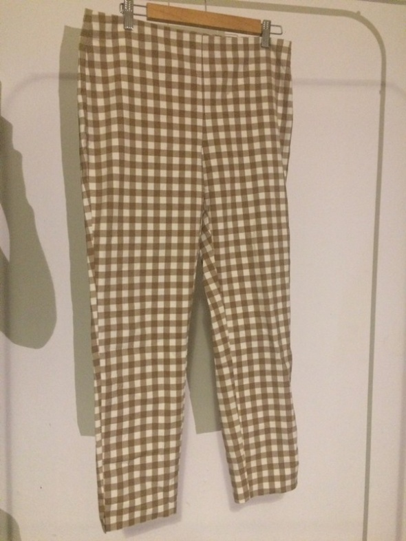 Spodnie w kratkę Zara